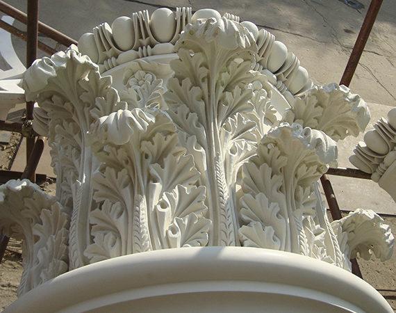 лепной декор из для фасада из сп
