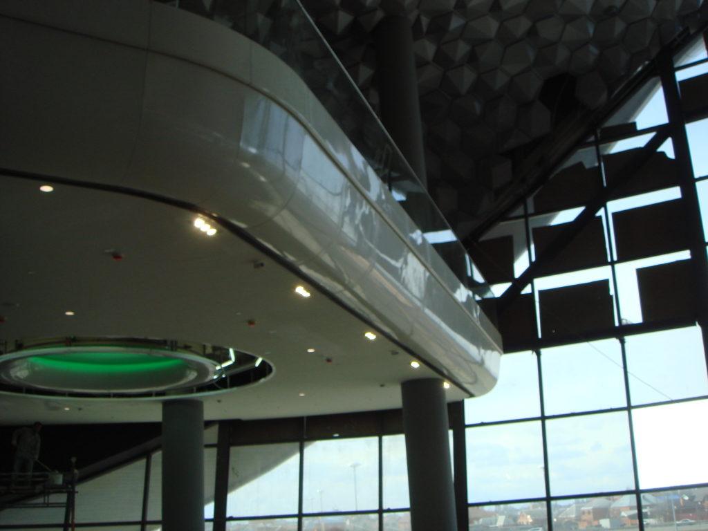 стеклопластиковые конструкции в ТРЦ «OZ»